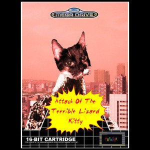 Attack of the Terrible Lizard Kitty Megadrive Cover