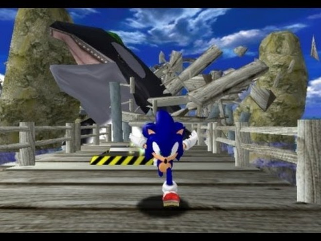 Dreamcast: Sonic Adventure whale chase