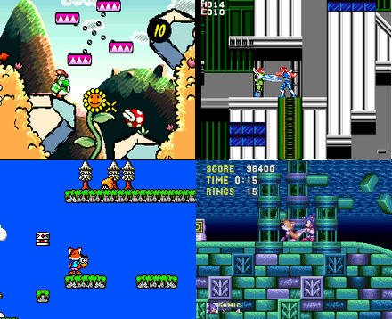 pi emulation - 8 and 16 bit video game screenshots