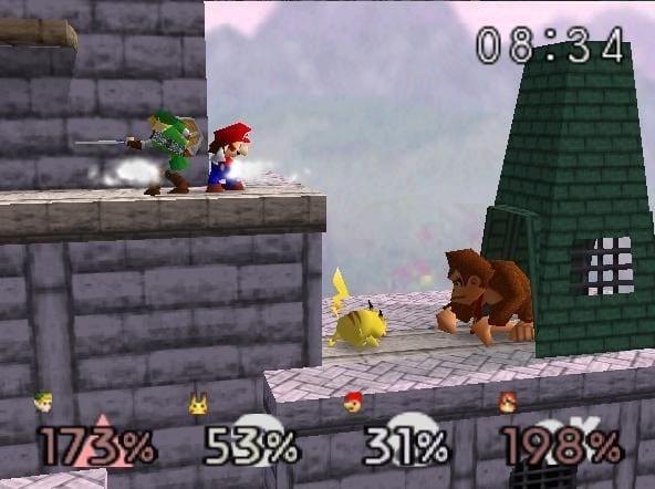pi emulation -Smash Brothers Screenshot
