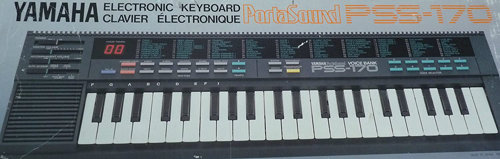 Box for the Yamaha PSS-170, a keyboard containing the YM2413